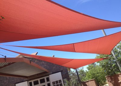 An example of a commercial shade sail