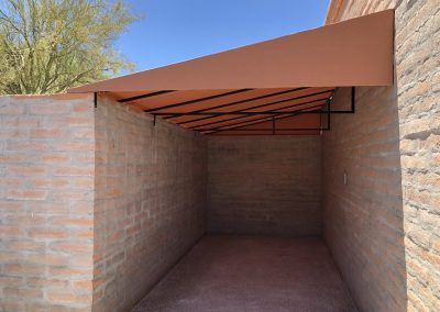Example of a residential patio cover